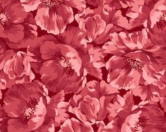 Poppies Red Tonal 8782-R by Maywood Studio Cotton Fabric Yardage