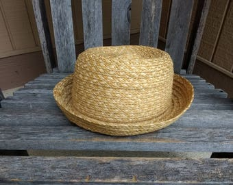 Vintage The Gap Woven Sun Hat Floppy Summer Beach Hat One Size Made in Italy