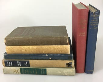 DECORATIVE Distressed Antiqued Set of Books for Display