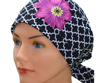Scrub Hats // Scrub Caps // Scrub Hats for Women // The Hat Cottage // The Mini // Fabric Ties // Lattice