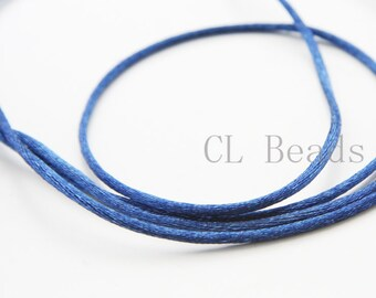 20 Meters of Round Rattail Cord - Navy 2mm
