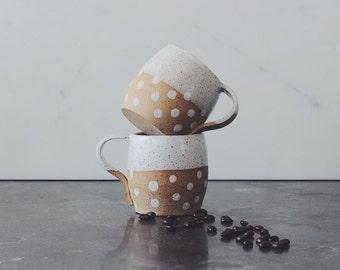 Hummock Mug - White Polka Dot