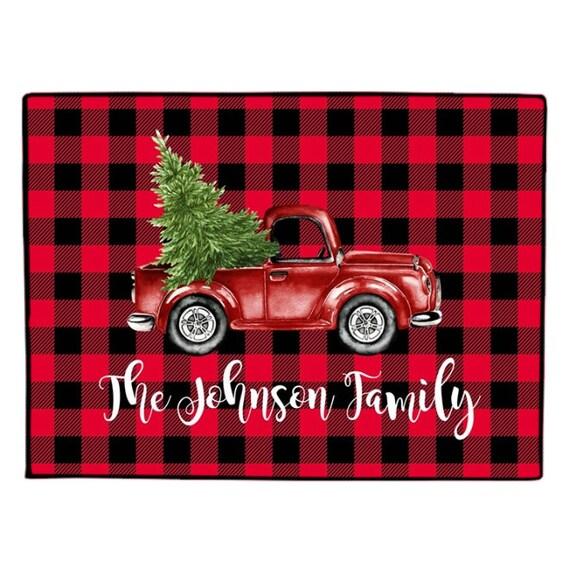 Items Similar To Buffalo Plaid Christmas Tree Truck
