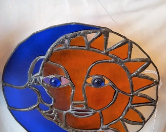 Sun and Moon Stained glass