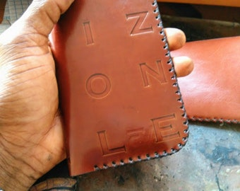 Handcrafted Leather phone pouch