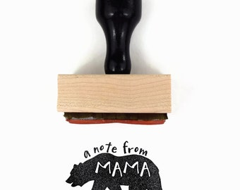 A Note from Mama Bear Stamp | Lunch Box Notes Rubber Stamp