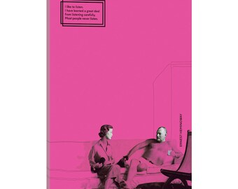 iCanvas Ernest Hemingway Gallery Wrapped Canvas Art Print by Selman Ho?gör