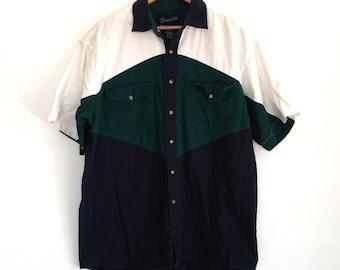 80's, Wrangler Brand, Color Block Shirt