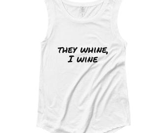 Wine Cap Sleeve T-Shirt