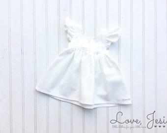 Flower Girl Dress, White Flower Girl Dress, Baby Dress for Wedding, Baby Girls Dress, Little Girls Dress for Wedding, Baby Flower Girl Dress
