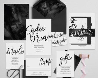 """Printable Wedding Invitation Suite """"Inka"""" - Printable DIY Invite, Affordable Wedding Invitation"""