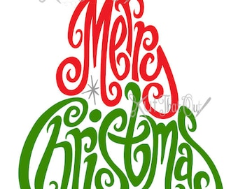 EXCLUSIVE Merry Christmas Tree SVG and DXF File