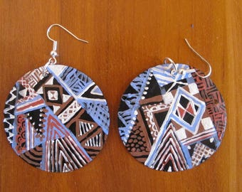 African Earrings- Sub Saharan Pattern