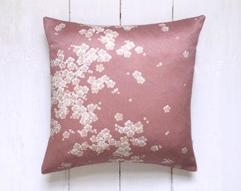 Pretty Pink Japanese Vintage Kimono Pillow Cushion 'Cherry Blossom'