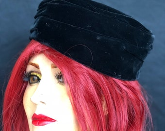 1950s Felt Pillbox Hat