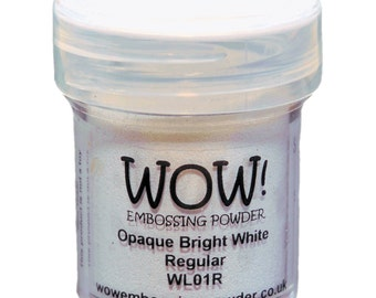 WOW! Embossing Powder, Opaque Bright White, Scrapbooking, Tags, Mixed Media,