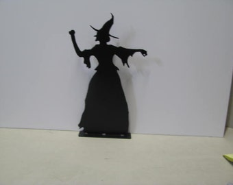 Halloween Witch XLarge Metal Wall Art Silhouette