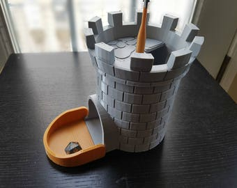 Dice tower, 3D printed, dice roller, dice tray, dnd dice box, dungeons and dragons, dnd accessory, pathfinder,  rpg