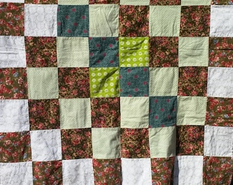 Pink Roses Flannel Rag Quilt