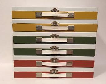 Mid Century metal Glenwood slide organizer- repurpose for vintage storage!