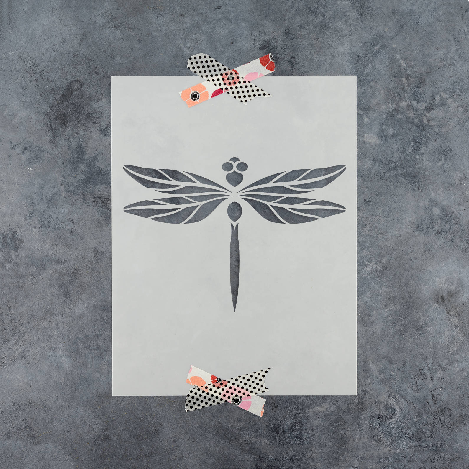 Dragonfly stencil reusable diy craft stencils of a dragonfly zoom jeuxipadfo Gallery