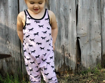 Lilac Horse Play Romper