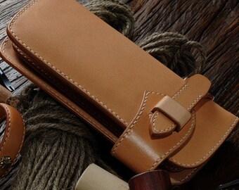 Wallet pattern. Leather purse