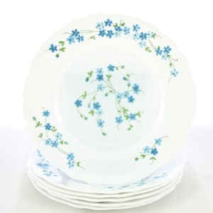French White Milk Glass Dinner Plates Dinnerware Dishes Set Made in France Forget Me Not  sc 1 st  Etsy & Plates made france   Etsy
