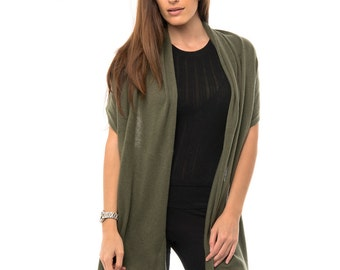 Olive Green Cashmere Wrap/Olive Green Pure Cashmere Wrap/Olive Green Cashmere Scarf