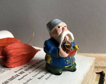 Old Soviet Ukrainian Doll Souvenir. Tiny Creature. Cossack. Hand Painted. For Home Decor or Assemblage