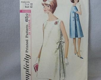 Vintage Simplicity Pattern 5271 Misses Maternity Dress Size 12