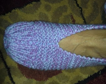 pattern for EZ knitted slippers