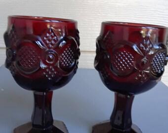 Vintage Avon Cranberry Cape Cod Glass