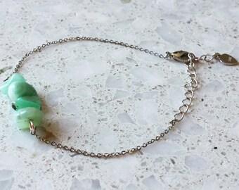 Amazonite Chip Chain Bracelet / Gemstone Bracelet/ Natural Crystal Bracelet/ Crystal Bracelet/ Beaded Bracelet/ Amazonite Bracelet/ Healing