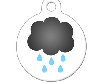 Pet ID Tag - My Little Rain Cloud  Pet Tag, Dog Tag, Cat Tag