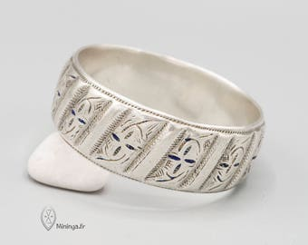 Rare heavy sterling silver Berber bracelet, Moroccan bracelet, Morocco, Amazigh jewelry, Ethnic bracelet, old Tribal, Berber silver, OOAK