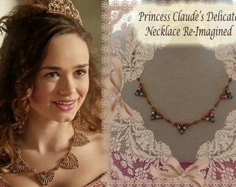 Reign,Princess Claude Delicate Re-Imagined Sparkling Necklace