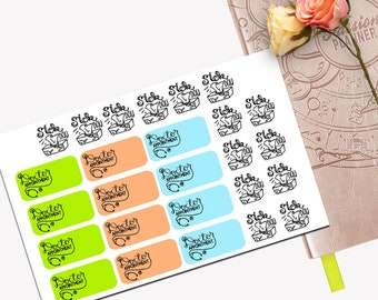 Doctor Appointment Functional Sticker Set, All Planner Stickers, Stickers, Printed, Cut, Passion Planner, Functional Sticker, Sick Day