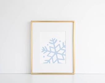 Christmas Snowflake Printable // Snow Print, Winter Printable, Winter Print, Snowflake Print, Winter Wall Art, Christmas Wall Art, Xmas Art