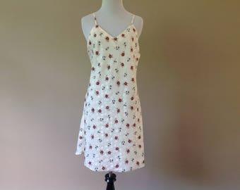 M / Vintage Chemise Nightie Dress Slip Lingerie / Medium / FREE USA Shipping