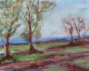 Original Oil Painting Landscape Original Artwork Wall Art Hanging Fairfield Suisun Valley Vacaville CA California Plein Air Artist USA Made