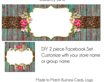 DIY Facebook Timeline Set - Calamity Jane- Customize for your Facebook Business or Personal Page