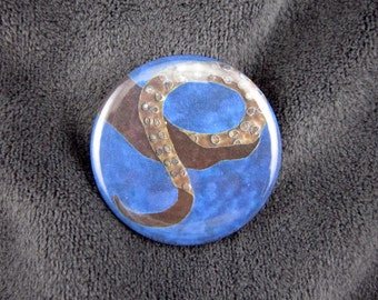 Creature of Water-- Tentacle pinback button or magnet