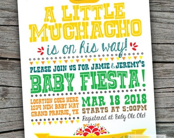 Fiesta Baby Shower Invite | Fiesta Invitation | Fiesta Babyshower | Mexican Fiesta Baby Shower | Fiesta Digital Invite | Fiesta Theme Shower
