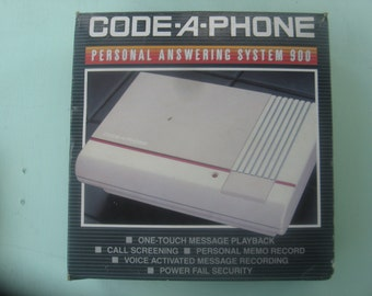 New (old stock) 1985 CODE-A-PHONE personal answering system 900