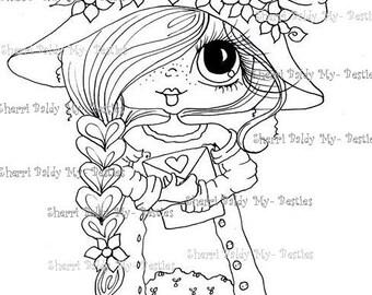 INSTANT DOWNLOAD Digital Digi Stamps Big Eye Big Head Dolls Digi Bestie Love Letters By Sherri Baldy