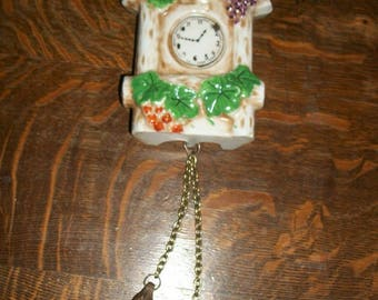 Vintage Cuckoo Clock Ceramic Wall Pocket