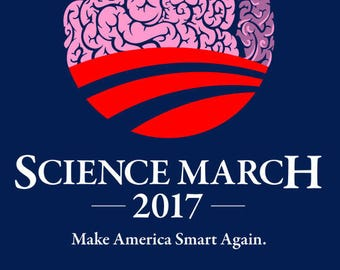Science March 2017 - Make America Smart Again - for proud supporters of science geeks and nerds! Anti- Trump Protest Shirt