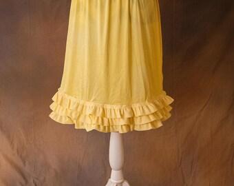 Three Layer Yellow Ruffled Skirt/Dress Extender
