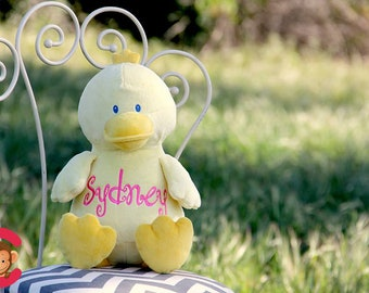 Personalized Stuffed Animal, Duck, Personalized Duck, Birth Stats Keepsake, Personalized Gift, Birth Announcement Stuffed Animal,Cubbies